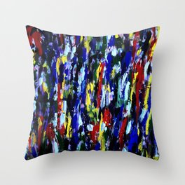 Colorful Art Abstract Paintings Modern Art by Robert R Throw Pillow