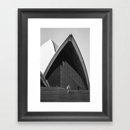 Opera House Steps Framed Art Print