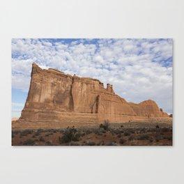 Desert Sunrise, Arches National Park, Courthouse District Canvas Print