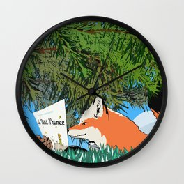The fox and the Little Prince Wall Clock