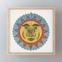 Sun with spiked aureole lantern  from Papierlaternen-Fabrik Riethmller makers catalog (Paper Lantern Framed Mini Art Print