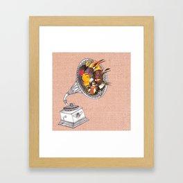 Bird Gramophone Cover Art Framed Art Print