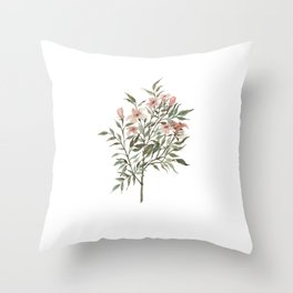 Small Floral Branch Throw Pillow