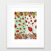 """bugs Framed Art Prints featuring """"bugs"""" by Ginger Pigg Art & Design"""