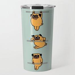 Muscles Ups Pug Travel Mug