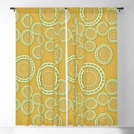 Mafic - Dappled mandala sunshine M of Alphabet collection Blackout Curtain