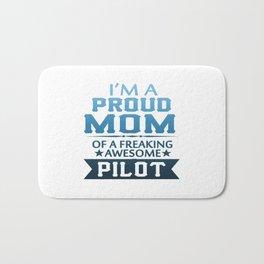 I'M A PROUD PILOT'S MOM Bath Mat