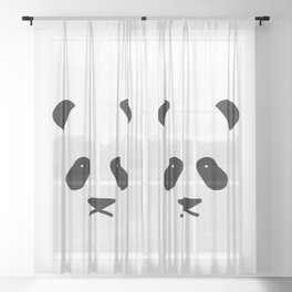 Panda Face Sheer Curtain