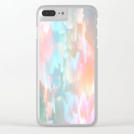 Candy Rainbow Glitch Fall #abstractart Clear iPhone Case