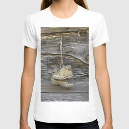 Old Boots Hanging on a Nail T-shirt