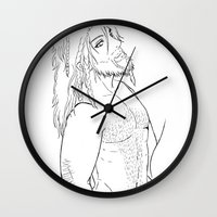 "fili Wall Clocks featuring Fili "" the hobbit"" by Selis Starlight"