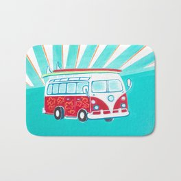 Surfer Sunrise Bath Mat