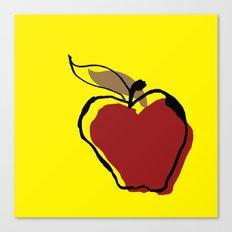 Apple for Teacher Canvas Print