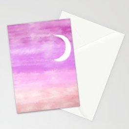 Magenta Moonrise Stationery Cards