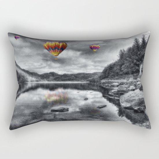 Above The Lake Rectangular Pillow