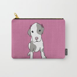 Millie The Pitbull Puppy Carry-All Pouch