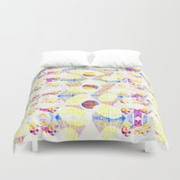 scales Duvet Covers featuring Scales by Rachel Clore