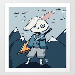 Bunny fighter Art Print