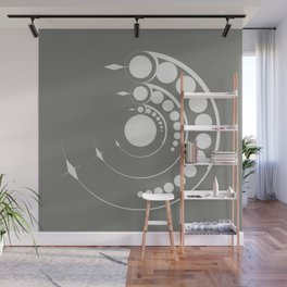 alien crop formation, sacred geometry Wall Mural