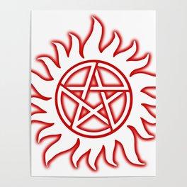 Anti Possession Sigil Red Glow Transp Poster