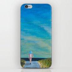 Walking to the Beach iPhone & iPod Skin