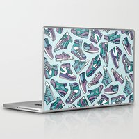 sneaker Laptop & iPad Skins featuring Sneaker Lover in Purple by Artwork by Brie