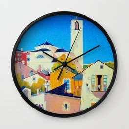 Ticino Switzerland - Vintage French Travel Ad Wall Clock
