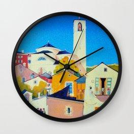 Ticino Switzerland - Vintage French Travel Ad Wall Clock