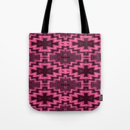 Glowing Aztec Futuristic Quilt Tote Bag