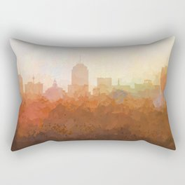 Fresno, California Skyline - In the Clouds Rectangular Pillow