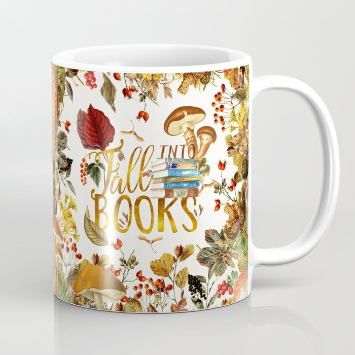 Fall Into Books Coffee Mug by evieseo | Society6