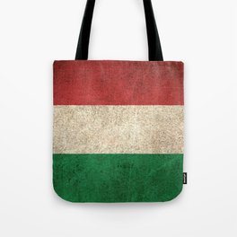 Old and Worn Distressed Vintage Flag of Hungary Tote Bag
