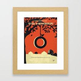 No844 My Mockingbird minimal movie poster Framed Art Print