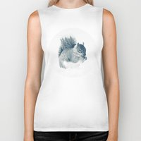 squirrel Biker Tanks featuring squirrel by Peg Essert