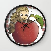 fili Wall Clocks featuring Fili&Apple by ScottyTheCat