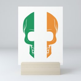 Awesome Irish Skull St. Patricks St Patty's Day Mini Art Print