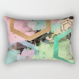 fun with collage and colors Rectangular Pillow