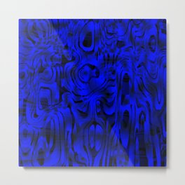 Bright smudges of magical infinity from blue lines and dark hypnotic fixation. Metal Print