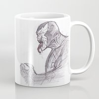 venom Mugs featuring Venom by jamestomgray
