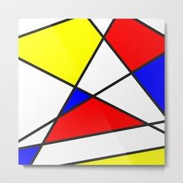 Confused Mondrian Metal Print