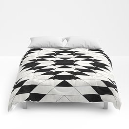 Urban Tribal Pattern No.15 - Aztec - White Concrete Comforters
