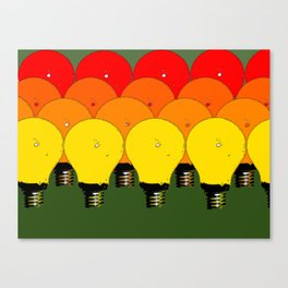 LIGHTBULBS 1 Canvas Print
