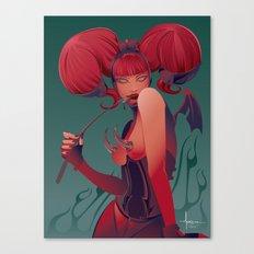 DECADENTLY HORNY Canvas Print