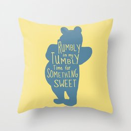 Rumbly in my Tumbly Time for Something Sweet - Pooh inspired Print Throw Pillow