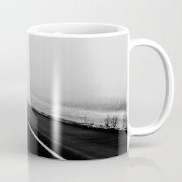 On the Road - Road trip photo, fog photograph, highway dramatic, landscape photo Coffee Mug