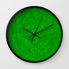 Neon Green Alien DNA Plasma Swirl Wall Clock