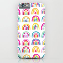 Colorful Rainbows iPhone Case