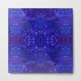 Fractal Galaxy Blues Metal Print