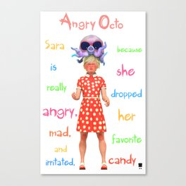 Angryocto - Sara's Candy Canvas Print