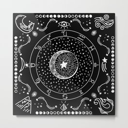 Zodiac Bandana Metal Print